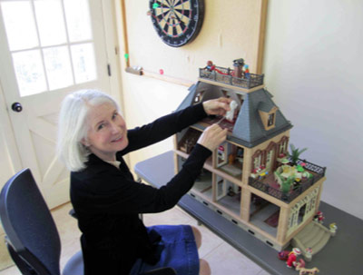 Waiting for Clara to get big enough to play with this dollhouse. It has a ghost in the attic and everything. Photo credit: Don Johnsen