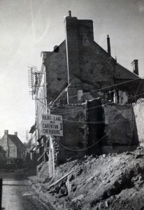 Bombing damage in Cherbourg July 1944