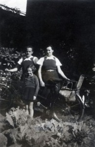 French family in Le Havre c 1945