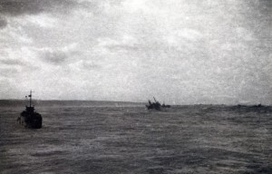 Storm at sea battle of Normandy