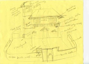 sketch of Jolly Grant House