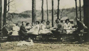 A picnic, Alfred University students, c 1910